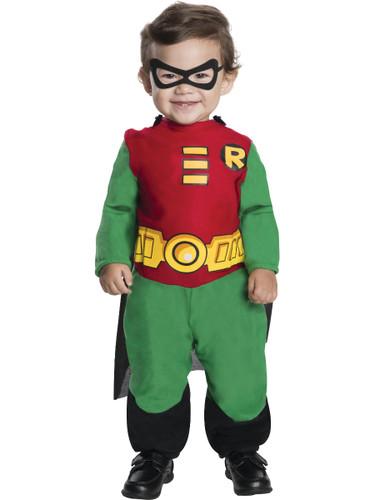 Kids Teen Titans Robin Costume Jumpsuit  Cape-4697