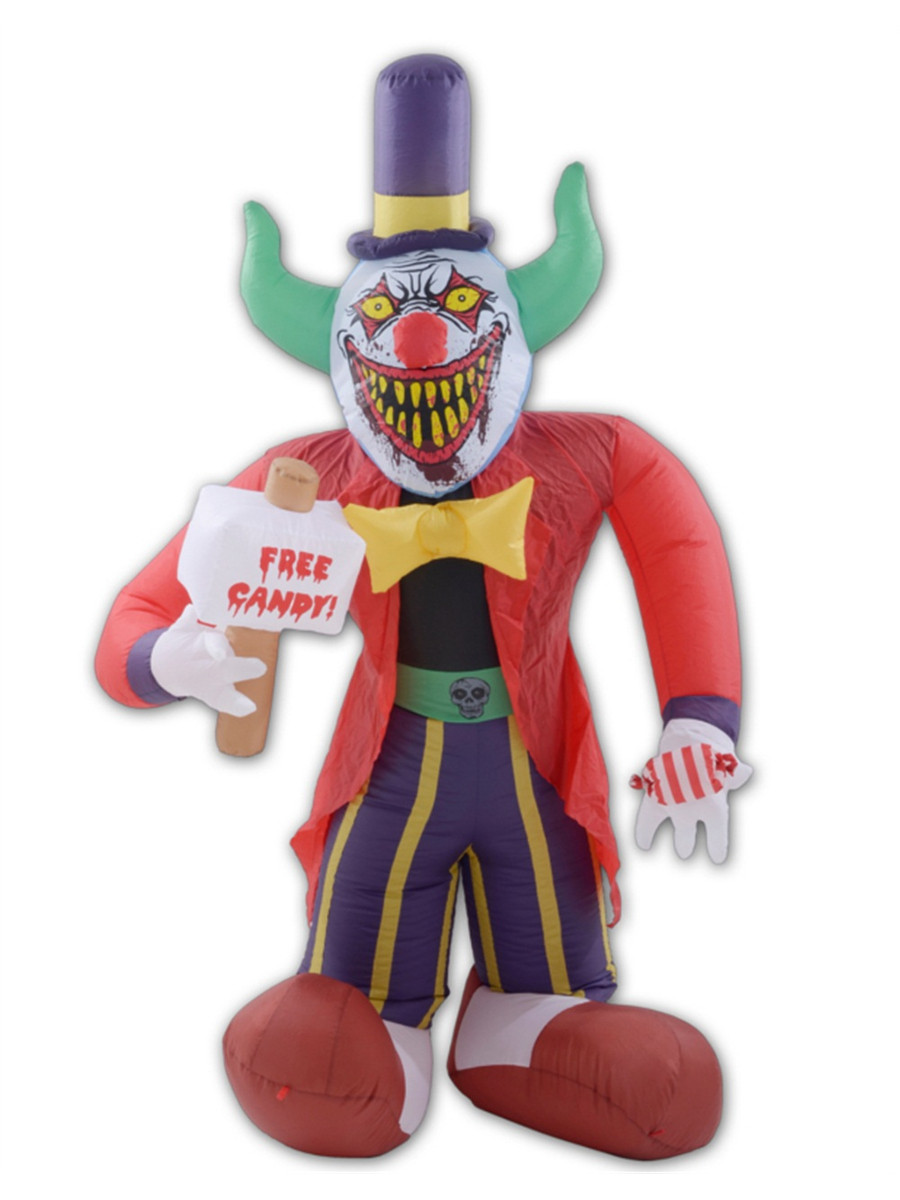 Amazon.com: Pennywise Evil Clown Halloween Inflatable ... |Halloween Clown Inflatables