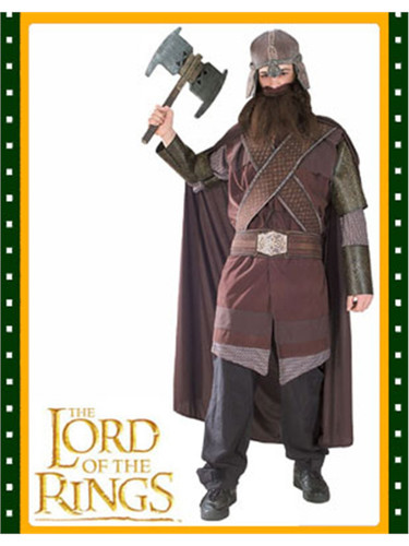 Gimli Lord of the Rings Adults Dwarf Costume Large New  sc 1 st  BlockBuster Costumes & Adult Large Lord of the Rings Gimli Dwarf Costume