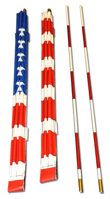 Ultra Velcro 2 or 1 Piece American Flag Volleyball Antenna Set