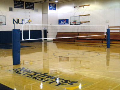 Patriot Professional Aluminum Volleyball Net System Full View