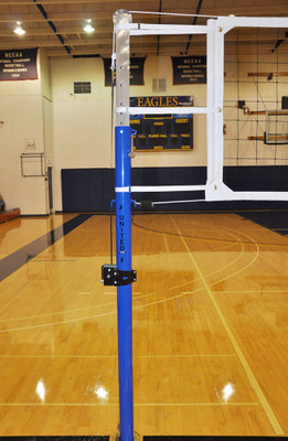"Ultra-Stiff 3-1/2"" OD Patriot Professional Aluminum Volleyball Net System"