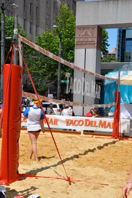 Custom Printed Volleyball Net on Netting Body