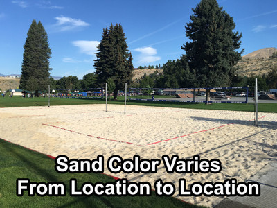 Volleyball Sand Example (Color and texture may vary based on location)