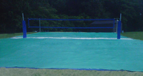 50' x 40' Basic Tarp Style Beach Volleyball Court Covers