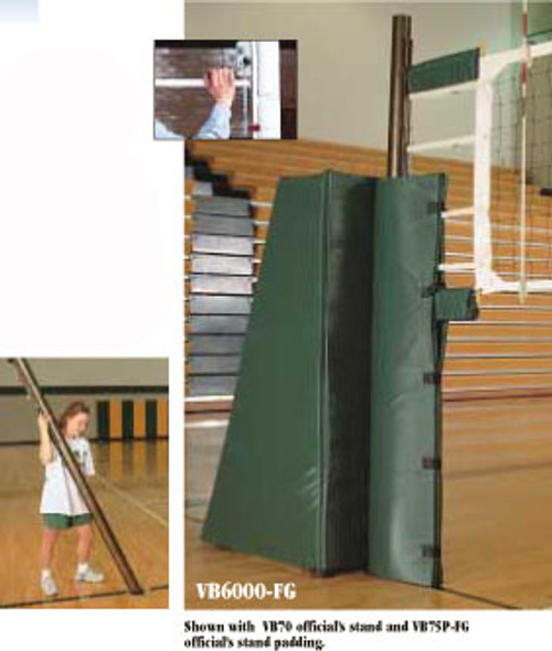 VB-6100 Aluminum With Pads Multi-Sport Volleyball System