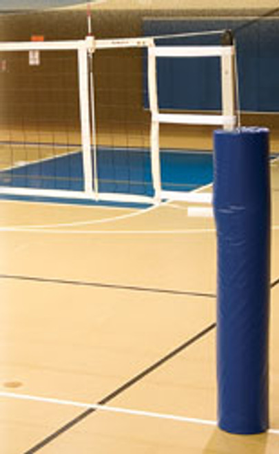 "IAS-3.5 International 3.5"" Aluminum Volleyball System With Pads - Top section of pole is square adding stiffness while the bottom section of pole is round for ease of use"