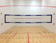 American Made Wallyball Net mounted with VolleyballUSA Suction Cups