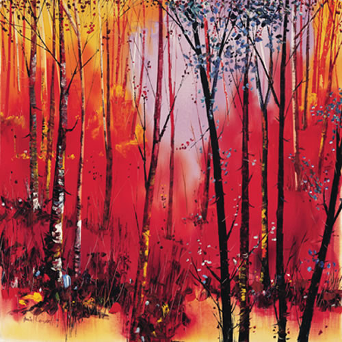 Birch and Reds by Daniel Campbell