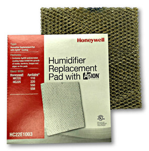 Honeywell HC22E1003 humidifier pad with Agion anti microbial shield for use in furnace and heat pump humidifiers.