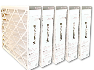 Honeywell FC200E1037 20x25 MERV13 pleated media air filter for use with heat pump, furnace or air conditioner.