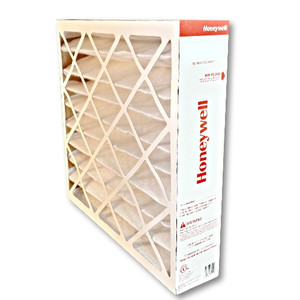 Honeywell FC100A1011 20x20 MERV11 pleated media air filter for use with heat pump, furnace or air conditioner.