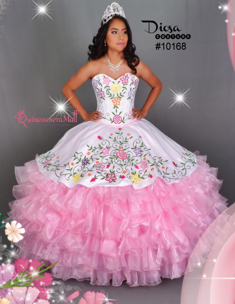 Multi Color Flowers Quinceanera Dress 10168qm Quinceanera Mall