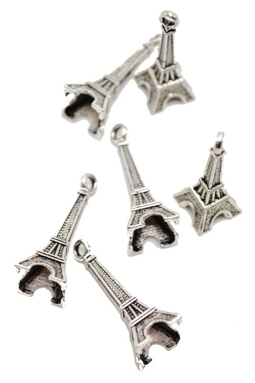 """3/4"""" Mini Eiffel Tower Charm - One Piece #CHARM16"""