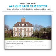 A4 Light Back Film Poster (inc. 2nd class postage)