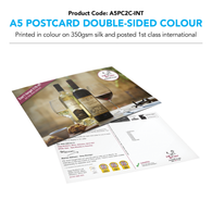 A5 Postcard Double-Sided Colour (personalised inc 1st Class International)