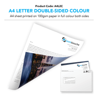 A4 Letter Double-Sided Colour (personalised inc. 2nd class postage)