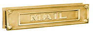 Embossed Brass Door Mail Slot