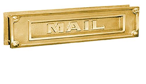 Exceptional Embossed Brass Door Mail Slot