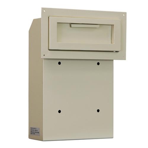 Through The Door Drop Slot with Receptacle  sc 1 st  Locking Security Mailbox & Through The Door Drop Slot with Receptacle - Locking Security Mailbox