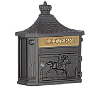 Victorian Locking Wall Mailbox