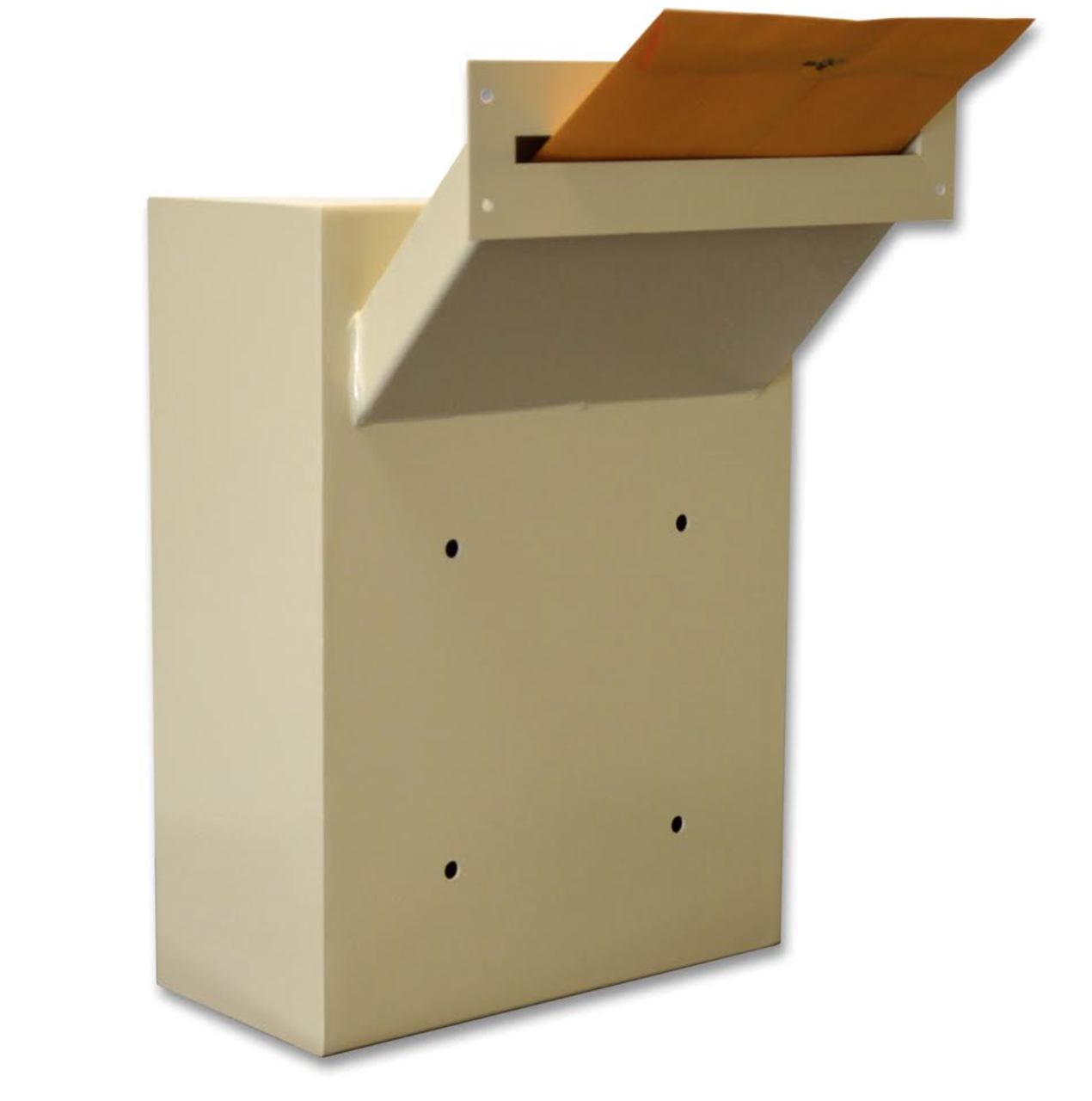 Through Wall Adjustable Chute Drop Box Locking Security