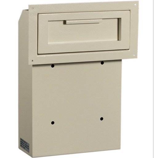 Front view with cover plate  sc 1 st  Locking Security Mailbox & Through the Door Payment Drop Box with Combination Lock Keypad ...