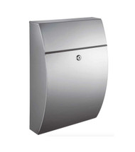 Stainless steel wall mounted locking mailbox