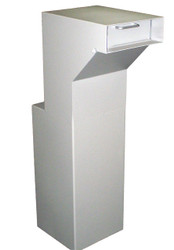 Floor Mounted High Security Through the Wall Custom Deposit Drop Box with Hopper Drop Door