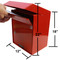 Extra Large Outdoor Secure Payment Drop Box front view dimensions