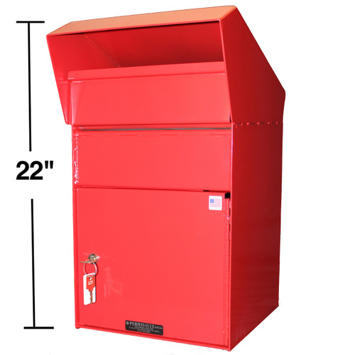 Extra Large Outdoor Secure Payment Drop Box side 22 inches high