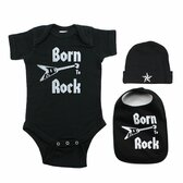 Born To Rock Guitar 3 Piece Baby Gift Set