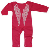 Punk Rock Long Sleeve Baby Romper: Angel
