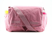 Pink Canvas Diaper Bag Front