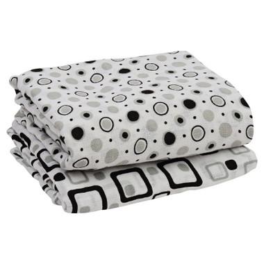 Muslin Blanket: Black & Gray