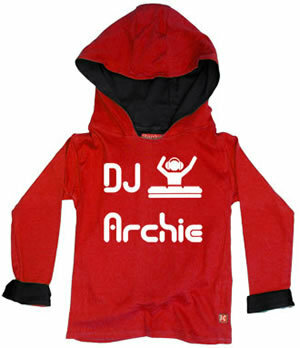 Punk Rock Personalized DJ Baby Toddler Big Kid Hoodie Pullover Jacket