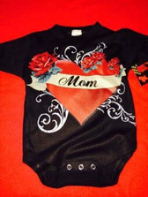 Baby Cool Onesie Or Toddler T-Shirt: Mom Tattoo Heart