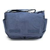Blue Canvas Diaper Bag Front