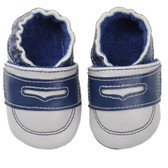 Baby Shoes: Blue & Gray Loafers