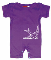 Punk Rock Baby Short Sleeve Romper: Sparrow