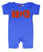 Punk Rock Short Sleeve Baby Romper: AB/CD