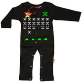 Punk Rock Long Sleeve Romper: Invaders