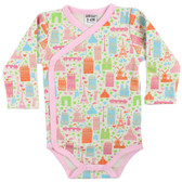 Baby Long Sleeve Onesie: Paris City Girl