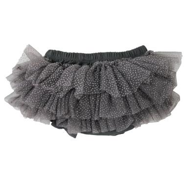 Charcoal Gray Tutu Diaper Cover.