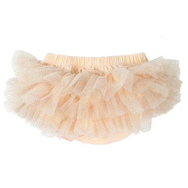 Peach Sparkle Tutu Diaper Cover.