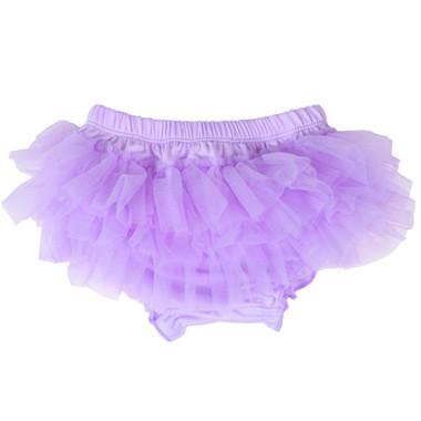 Lavender Purple Chiffon Ruffle Tutu Diaper Cover.