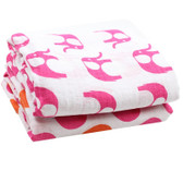 Muslin Blanket: Elephant Hot Pink