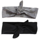 Gray Camo & Black Head Wrap Gift Set