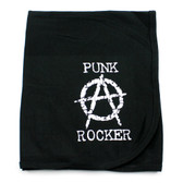 Anarchy Punk Rocker Receiving Swaddling Blanket