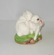 Bunny Rabbits Snuggling (White) 40275-W